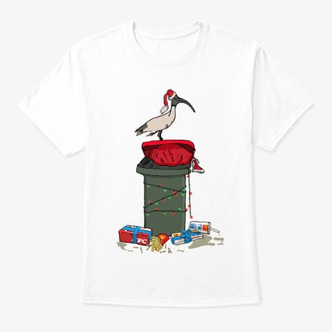 Xmas Bin Chicken Long Sleeve T Shirt White T-Shirt Front