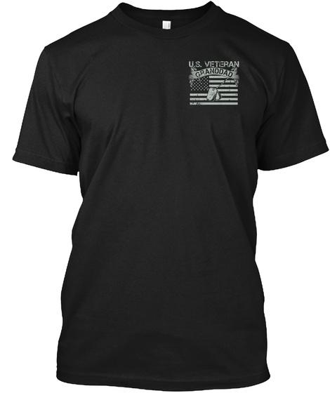 U.S. Veteran Granddad Black T-Shirt Front