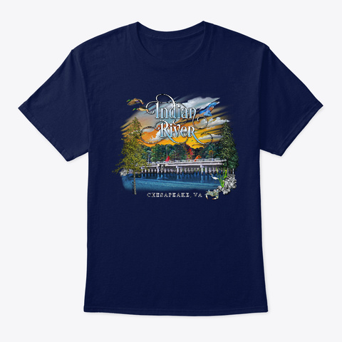 Indian River Shirts Navy T-Shirt Front