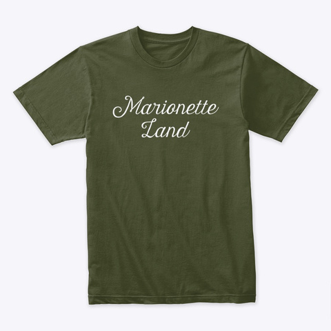 Marionette Land Documentary T Shirt Military Green T-Shirt Front