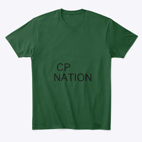 Cp Nation Forest Green  T-Shirt Front