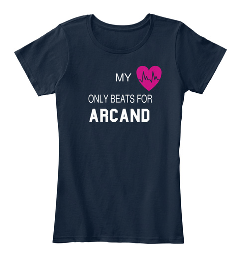 My Only Beats For Arcand New Navy T-Shirt Front