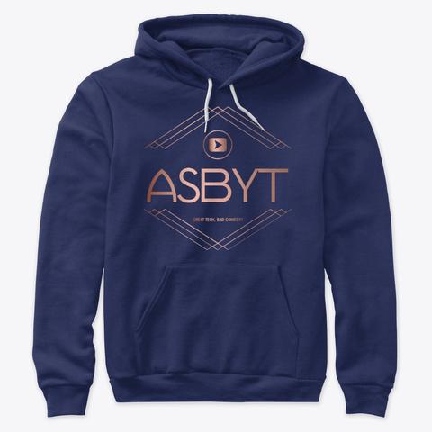 Official Asbyt Merch!  Navy T-Shirt Front