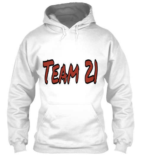 Team 21 White T-Shirt Front