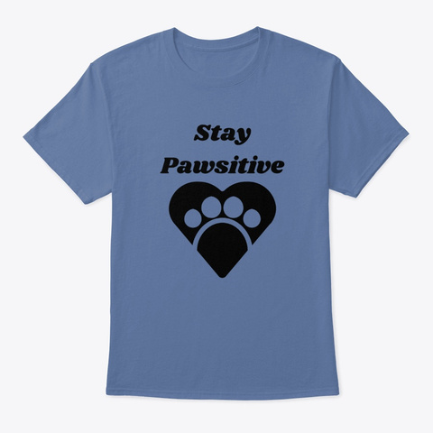 Fkf Stay Pawsitive Denim Blue T-Shirt Front