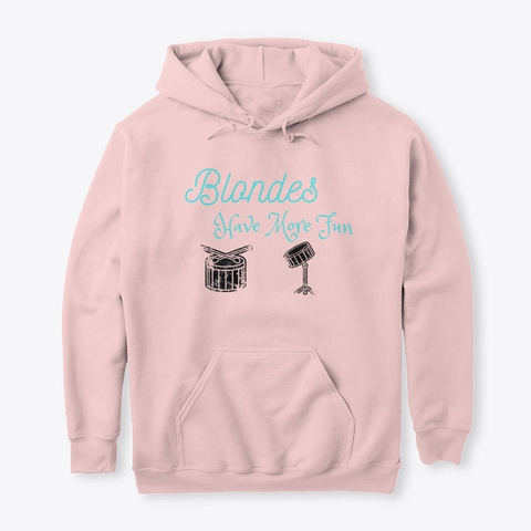 Blondes Have More Fun Light Pink T-Shirt Front