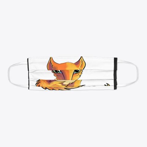Fox Cutie Black T-Shirt Flat