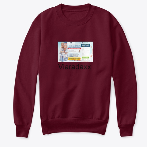Viaradaxx Pills   Price & Benefits ! Maroon T-Shirt Front