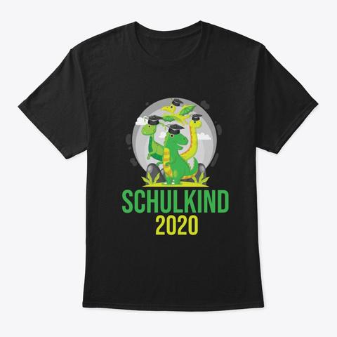 Schulkind 2020   Dino Boys Schooling Black T-Shirt Front