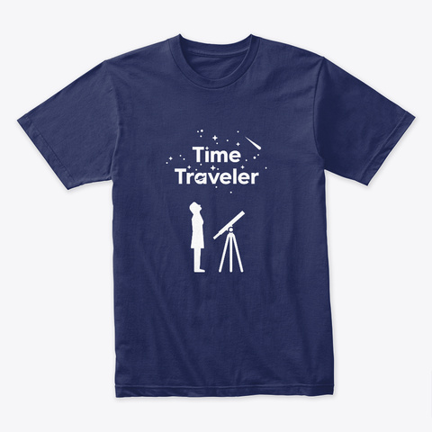 Time Traveler Woman 🚀 #Sfsf Midnight Navy T-Shirt Front
