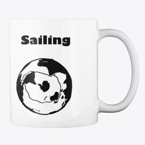 Slow Boat Sailing Mug White T-Shirt Back
