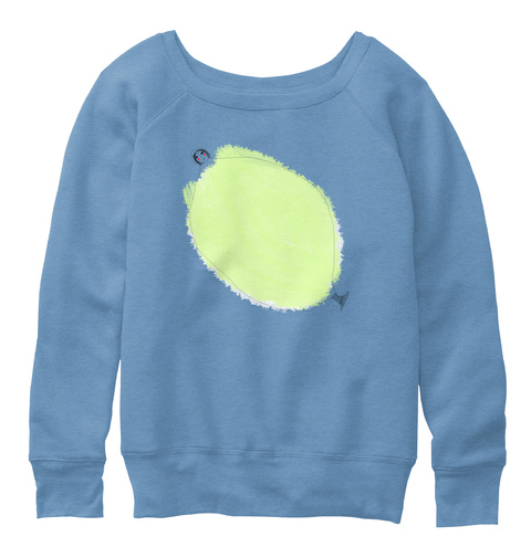 Favorite Mermaid Blue Triblend  Sweatshirt Front