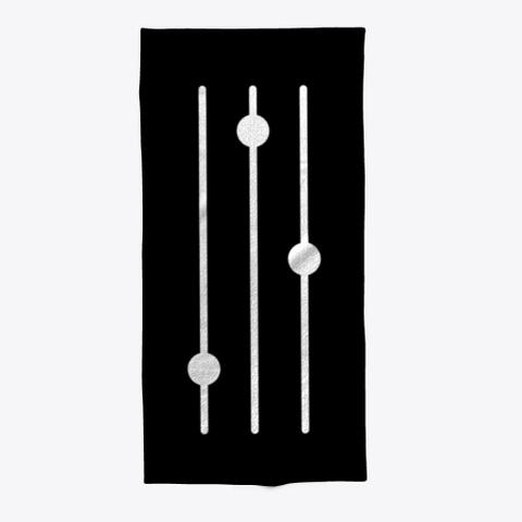 Beach Towel: Mixer Black T-Shirt Front