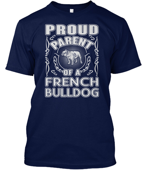 French Bulldog Navy T-Shirt Front