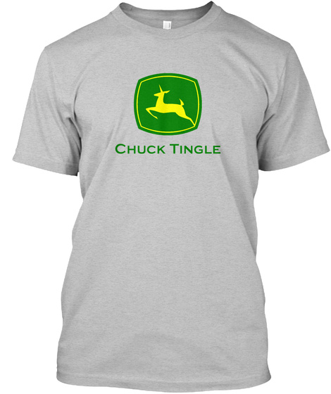 Chuck Tingle  Light Heather Grey  T-Shirt Front