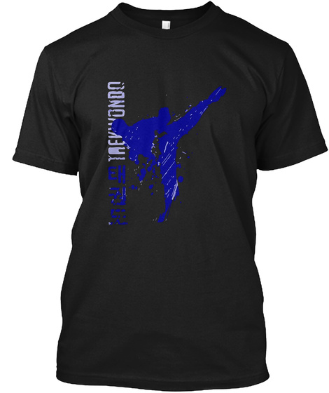 Best Price Taekwondo Black T-Shirt Front