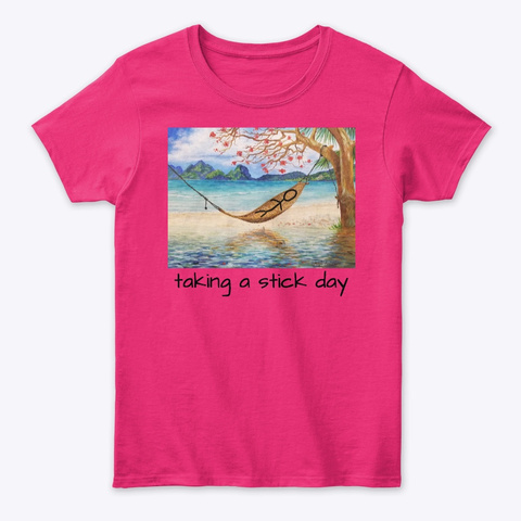 Taking A Stick Day Heliconia T-Shirt Front
