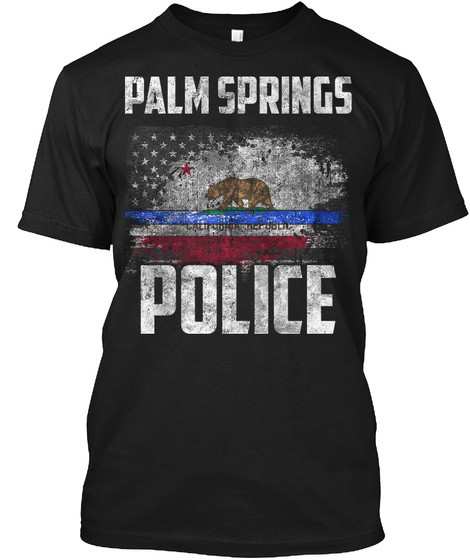 Palm Springs Police Black T-Shirt Front