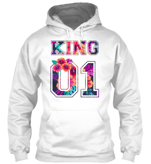 King And Queen 20 White T-Shirt Front
