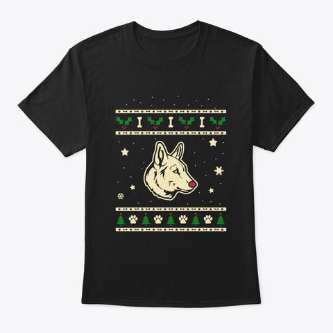 Christmas Seppala Siberian Sleddog Gift Black T-Shirt Front