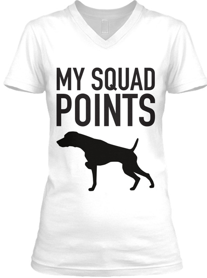 My Squad Points White T-Shirt Front