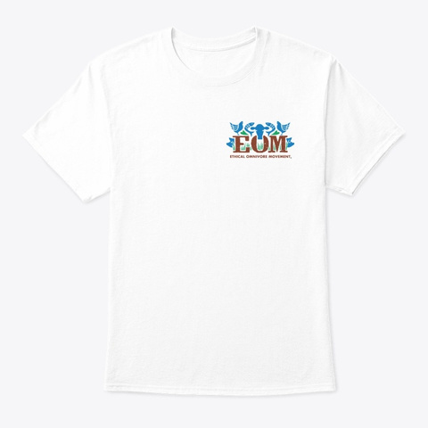 Eom Colour Logo + How Not Cow White T-Shirt Front