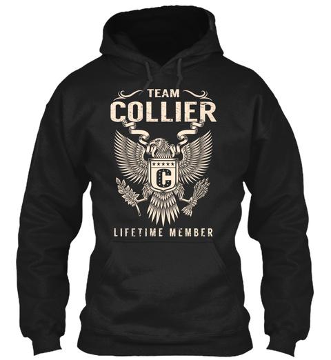 Team Collier Lifetime Member Black T-Shirt Front