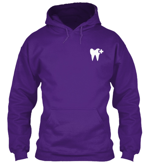 Dental Hygienist Flag Purple T-Shirt Front