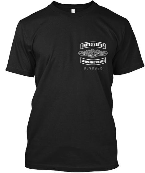 United States Submarine Service Veteran Black T-Shirt Front
