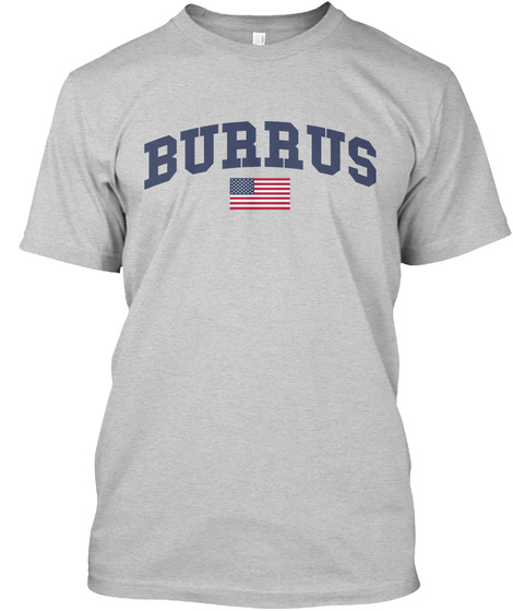 Burrus Family Flag Light Steel T-Shirt Front