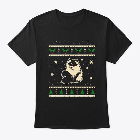 Christmas Himalayan Gift Black T-Shirt Front