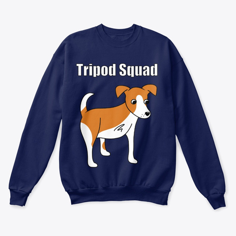 Tripod Squad Navy  T-Shirt Front