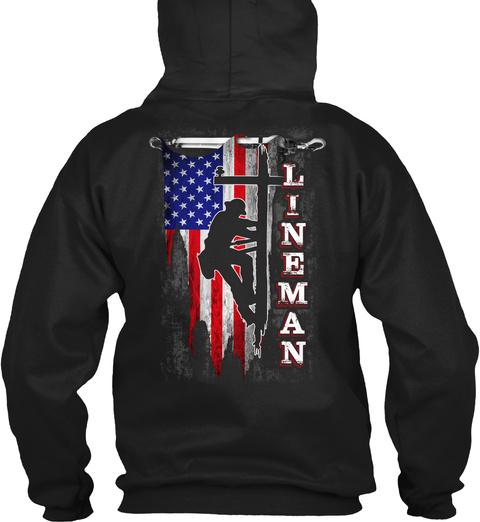 Lineman Black T-Shirt Back