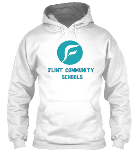 Flint Community Schools White Sweatshirt Front