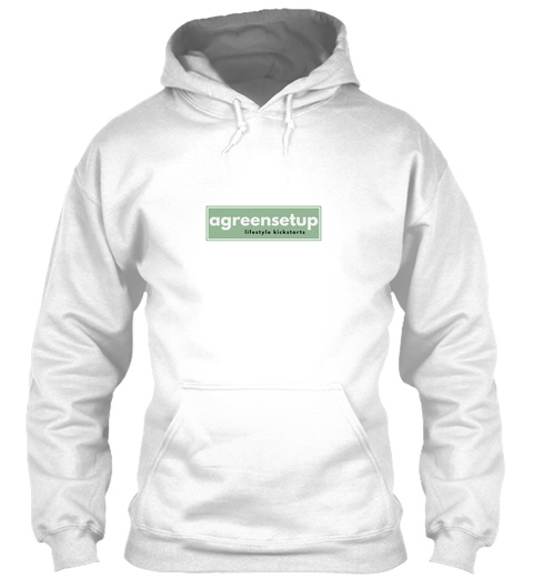 The Hoodie White Sweatshirt Front