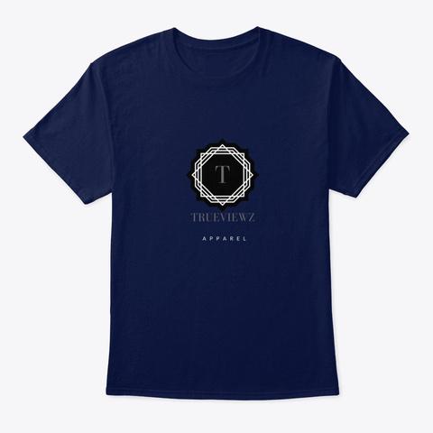 Original True Viewz Logo Navy T-Shirt Front