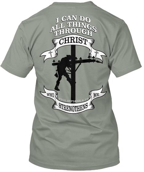 Lineman All Things Through Christ T-Shirt Back