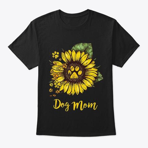 Dog Mom 3 Black T-Shirt Front