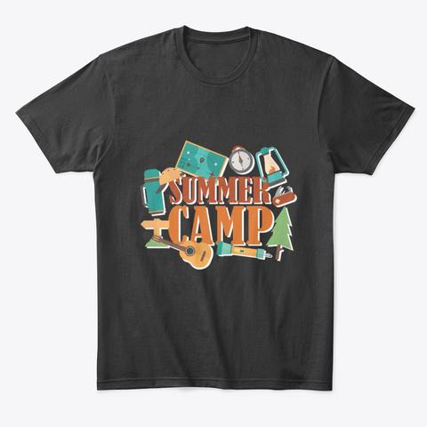 Summer Camp   Tees Black T-Shirt Front