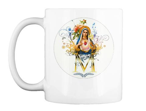 M White Mug Front