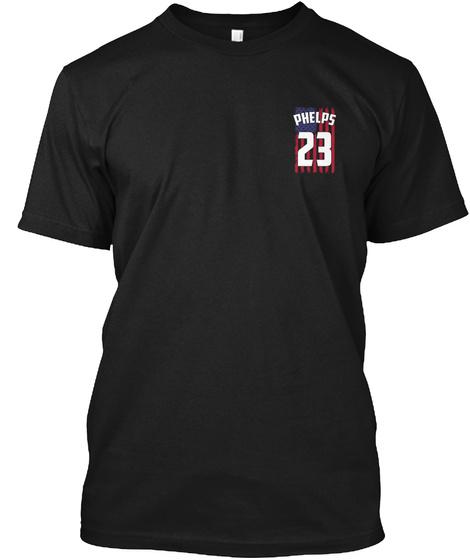 Phelps 23 Black T-Shirt Front
