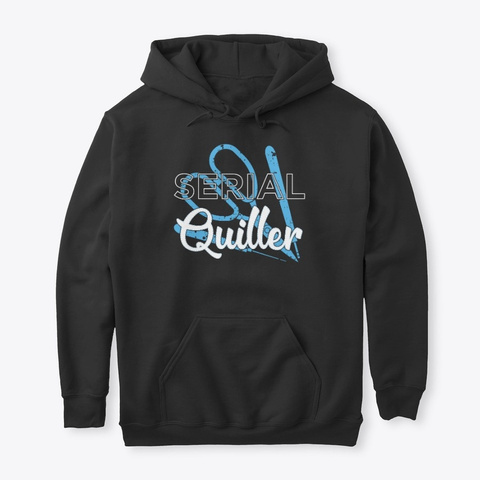 Serial Quiller Funny Paper Quilling Black T-Shirt Front