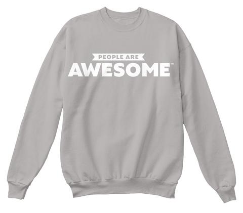 People Are Awesome Logo Sweatshirt Light Steel  Camiseta Front