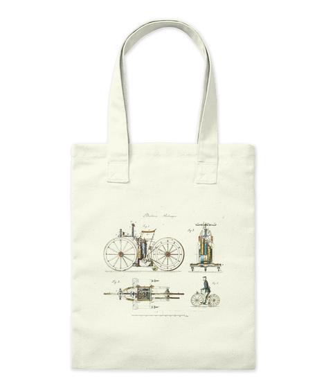 Bicycles. Natural T-Shirt Front