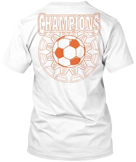 Funny Soccer Merchandise White T-Shirt Back