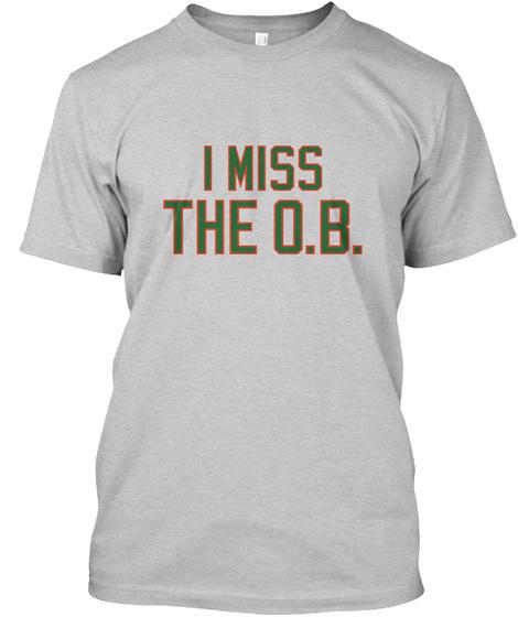 Naming Wrongs: O.B. (Grey) Light Steel T-Shirt Front