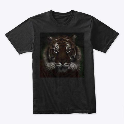 Black Tiger T Black T-Shirt Front