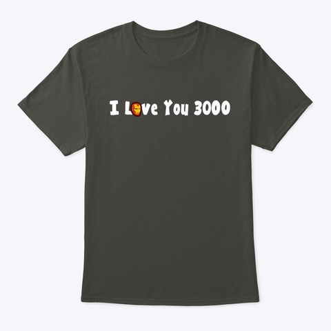 Love 3000 Smoke Gray T-Shirt Front