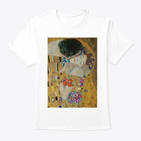 Gustav Klimt   The Kiss White Maglietta Front