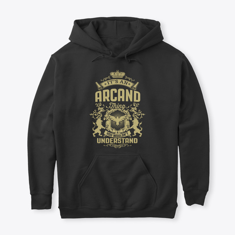 It's An Arcand Thing Black T-Shirt Front
